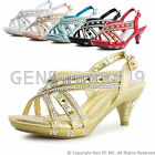 New Youth Girls Pageant Wedding Ball Party Heels 86Youth 9 10 11 12 13 1 2 3 4