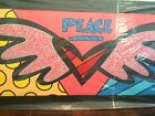 Romero Britto SIGNED OIL & ACRYLIC on Yoga Mat Framed Cert of Auth One of a Kind