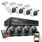 Sannce 8CH HDMI 960H DVR 900TVL Outdoor CCTV Video Security Camera System 1TB