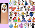 60x VARIOUS DISNEY CHARACTERS Nail Art Decals + Free Gift Mickey Mouse Minions