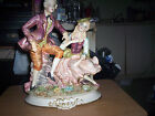 Capodimonte Man and Lady Courting Statue Made in Italy