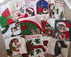 Choice: Christmas Wreath Goose Teddy Santas Father Christmas Trees Fabric Panel