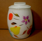 Neat Vintage 1950s Original Hand Painted Colorful Fruit & Flower Cookie Jar