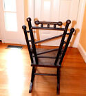 CHILDREN ANTIQUE STICK AND BALL SPOOL ROCKING CHAIR ORNATE HANDCRAFTED