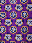 Big Purple Flowers Printed Designs Fabric Diamond Super Nice Fabric wd110204