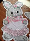 Vintage Spring Mills Girl Bunny Cut And Sew Fabric Pillow Panel-EASTER