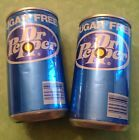 Two original tin can ally electronic rifle Dr Pepper can targets