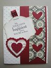 HAPPIEST THOUGHTS Card Kit 4 cards lot Stampin up Valentine love