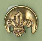 1970's UNITED KINGDOM / UK SCOUTS - BOY SCOUT GOLD COLOR Metal Lapel Pin Badge