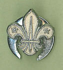 1970's UNITED KINGDOM / UK SCOUTS - BOY SCOUT SILVER COLOR Metal Lapel Pin Badge