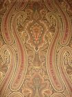 Ralph Lauren Brice Paisley Floral Scroll Brown Red Tan Large Print Fabric 3 Yds