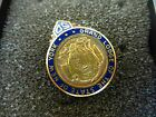 Free Mason Fraternity Pin Grand Lodge of the state of New York SD 10k GF enamel