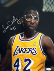 James Worthy Signed Los Angeles Lakers 11x14 Photo JSA G48619