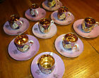 RARE 1800s German Demitasse 24k Gold Gilded Chocolate Set 10 Cups