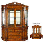 China Cabinet Hutch Glass Doors Handmade Solid Hardwoods Shipped to you FREE
