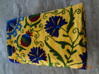 cotton canvas suzani embroidery bed spared queen size bed cover with 2 pllow