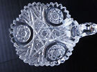 Vintage Cut Crystal Glass CANDY DISH, Sawtooth Edges Star Pattern 5.25