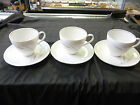 Johann Haviland Bavaria Germany Tea Cup and Saucer SET OF 3   WHEAT DESIGN