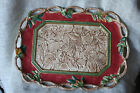 Large Fitz and Floyd Classics Christmas Lodge Leaves Holly Holiday Platter Tray