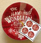222 Fifth Christmas Tunes Most Wonderful Time Of The Year Appetizer Plates Set 4