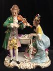 Antique German Dresden Ernst Bohne musical group figurine