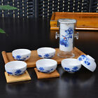 Chinese Lotus Floral Gongfu Cha Tea Cup Glass Ceramic Teapot Set With Infuser