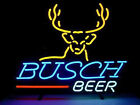 NEW BUSCH BEER DEER REAL GLASS NEON LIGHT LAGER BAR SIGN