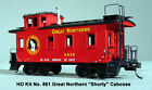 AMB LaserKit Great Northern 25' Caboose Craftsman Kit 1/87 HO Scale NEW #861