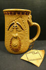 Vintage Pottery Craft Face Large Tall Mug Man with Goatee with Original Tag