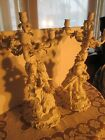 Antique Pair Candelabra Plaster Candle holders Fine detail