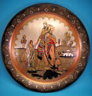 HUGE MIDDLE EAST METAL WALL HANGING PLATE WITH AMAZING PICTURE!!!