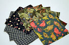FLANNEL PRINTS 20 PIECE LOT OF 5 X 5 SQUARES ALL OOP