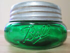 7 UP  GREEN BALL MASON WIDEMOUTH SQUATTY HALF PINT JAR & GALVANIZED  LID
