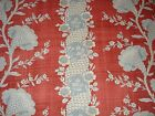 Braemore Brookside Stripe French Country Look Scrolling Floral Fabric 3.72 Yds