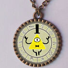 Gravity Falls Bill Cipher Wheel Necklace Antique Glass Pendant Jewelry Gift