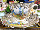 COLCLOUGH TEA CUP AND SAUCER LADY DIANTY TEACUP PATTERN GOLD GILT