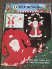 New - Daisy Kingdom - Christmas no-sew Fabric Applique - Candy Santa