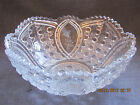 Clear Pressed Glass Serving Bowl Vintage Early 1900s