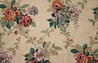 Bloomcraft Fabric Original Screen Print Floral Vintage 23+ yds in 2 Pieces