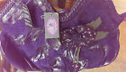 NWT Sharif Purple Suede Flower Patchwork Handbag Bag Purse FUN!