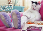 Cat Wearing Slippers Funny Just For Fun Card Greeting Card by Avanti Press