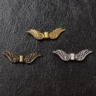 Tibetan Silver Gold Bronze Charms Nice Angel Wing Spacer Beads 23mm Cw1029