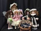 LOT OF 8 Porcelain Dolls - Various Sizes and Brands