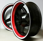 RED & WHITE MOTORCYCLE INNER RIM DECALS WHEEL STICKERS STRIPES TAPE VINYL WRAP