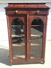Antique George III two door hutch china cabinet bookcase curio furniture display