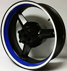 BLUE & WHITE MOTORCYCLE INNER RIM DECALS WHEEL STICKERS STRIPES TAPE VINYL WRAP