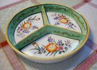 Vintage 1920's MORIYAMA MORI-MACHI 3 section dish.Vivid handpainted colors.Clean