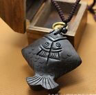 C03 Chinese Folk Style Hand Carved Fish Women's Lady Girl Sweater Chain