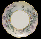 Antique Limoges France Porcelain Plate with Hand Painted Daisy Trim