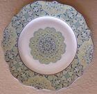 222 Fifth LYRIA TEAL Dinner Plates Set Of 4 Dinnerware